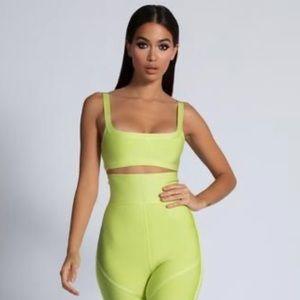 Meshki Bandage Top - Lime Green